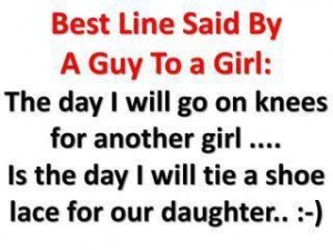 Best line siad by a guy to a girl!