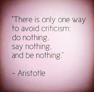 How to avoid criticism!