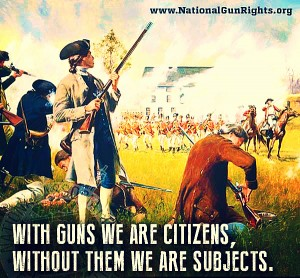 With guns we are citizens....